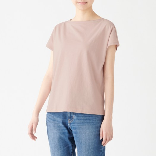 Ladies' Organic Cotton Uneven Yarn French Sleeve T-shirt, Less 10% (U.P. $19.90)