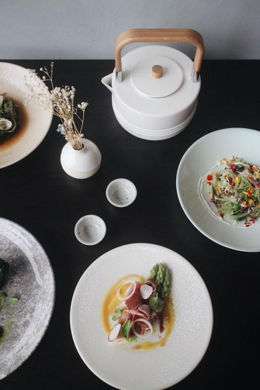 Asparagus with Iberico Ham and Ponzu