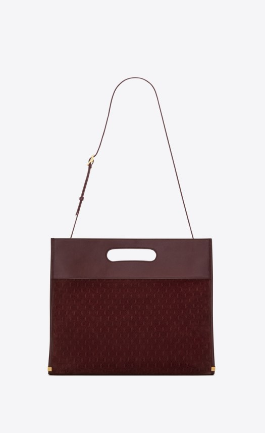 MONOGRAM ALL OVER Tote in Suede — Burgundy, $3,250