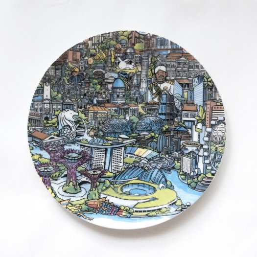 Nanyang Porcelain The Singapore Map (20cm) $72