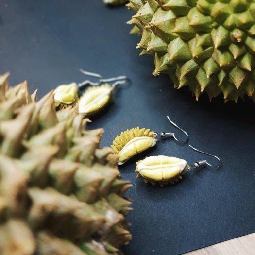Klay.sg Durian earrings at $18.80/pair.