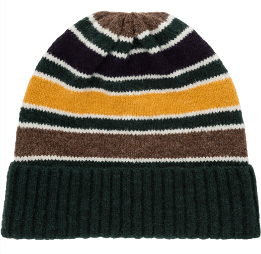 Striped knitted beanie, $19.90