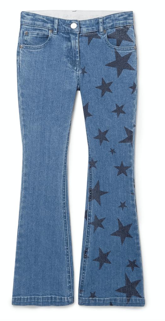 Stars Flare Denim Pants in Black, US$108