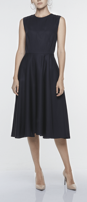 SLEEVELESS A-LINE DRESS, $289