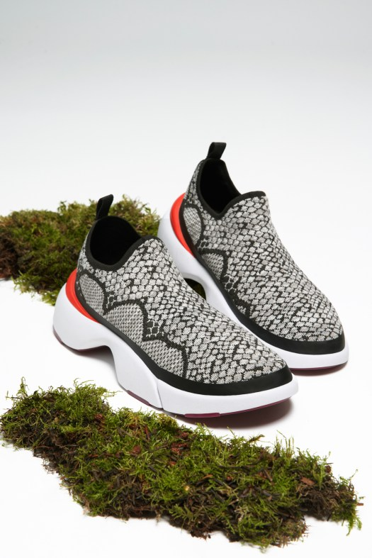 CHARLES & KEITH 4WARD Snake Print Knitted Slip-On Sneakers $65.90