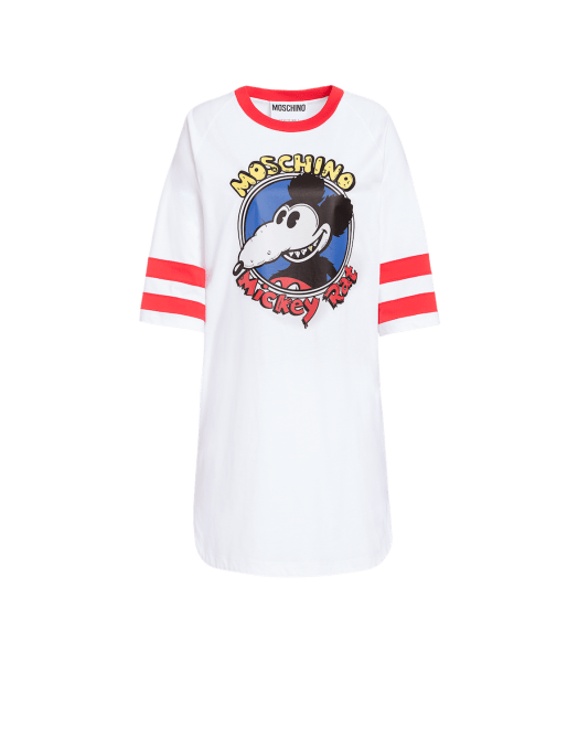 Moschino Mickey Rat Cotton Jersey Dress $607