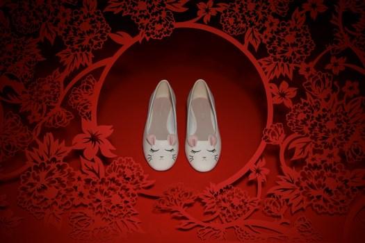 'Rat Zodiac' Ballerina Flats $49.90