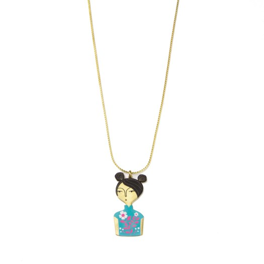 Cheongsam Chicks Necklace Gold $139.90