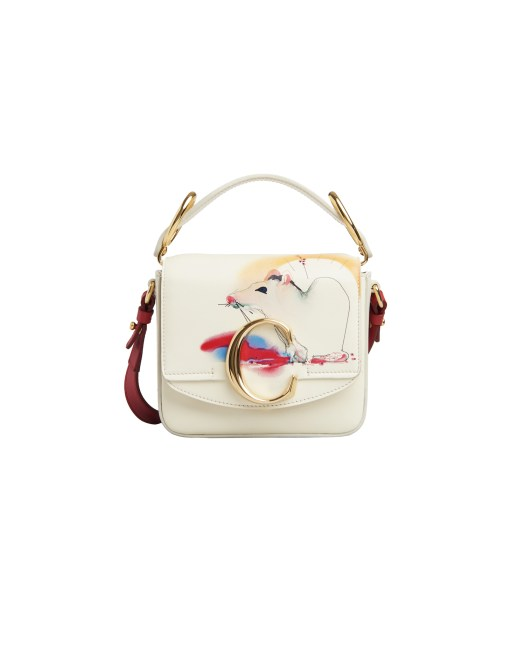 Chloé C Mini Bag in Shiny Calfskin $2,278
