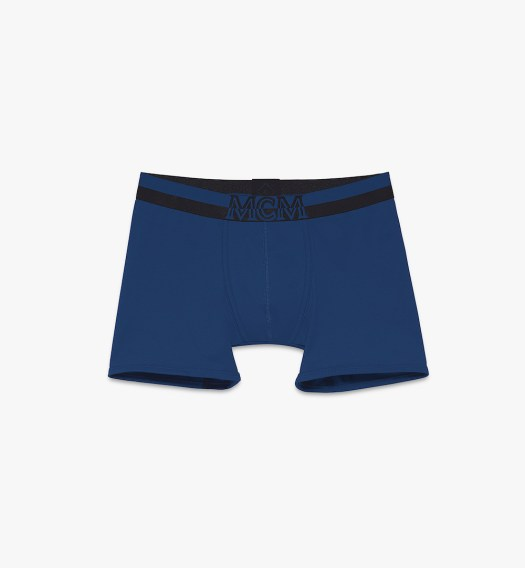 MCM Long Boxer Briefs Logo Blue $100