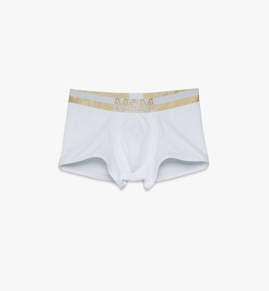 MCM Short Boxer Briefs Logo White $85