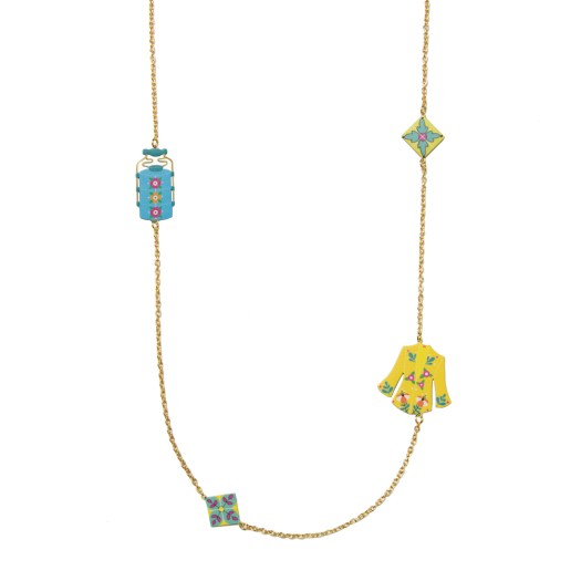 Nonya Long Necklace Gold $168