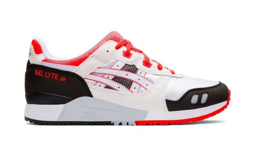ASICS Gel-Lyte III Men in White/Flash Coral $159