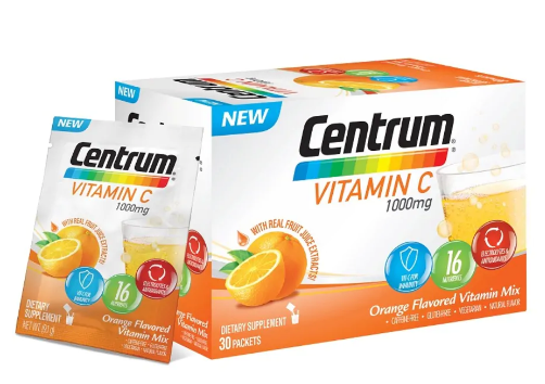 Centrum Vitamin C 1000mg, 30 packets, $21.90. Available at Guardian.