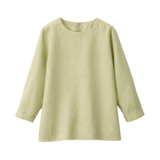 Organic-Linen Washed Long Sleeve Blouse $49