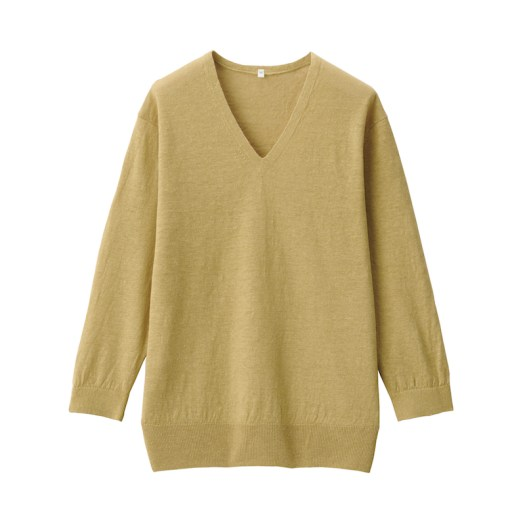 UV Protection French Linen V-Neck Sweater $49