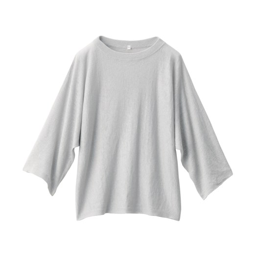 Organic-Linen Washed 3⁄4 Sleeve Blouse $49