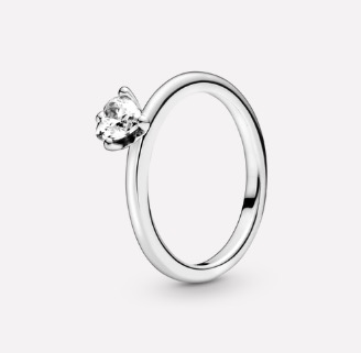 Pandora Clear Heart Solitaire Ring $89