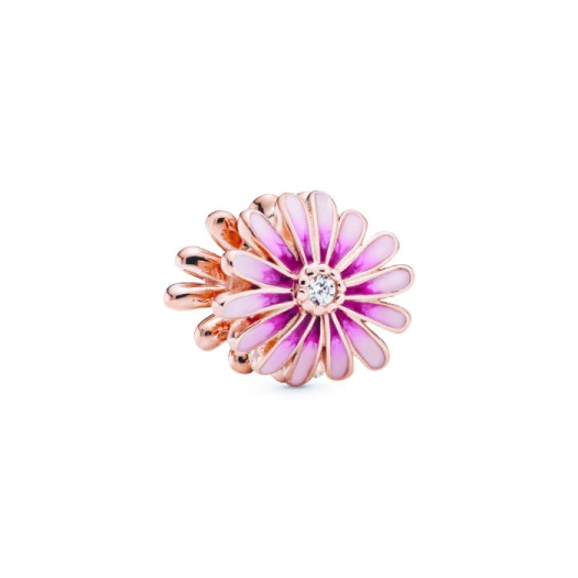 Pink Daisy Flower Charm, $99