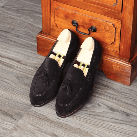 TLB Mallorca Lancaster Loafer in Dark Brown Suede, $488