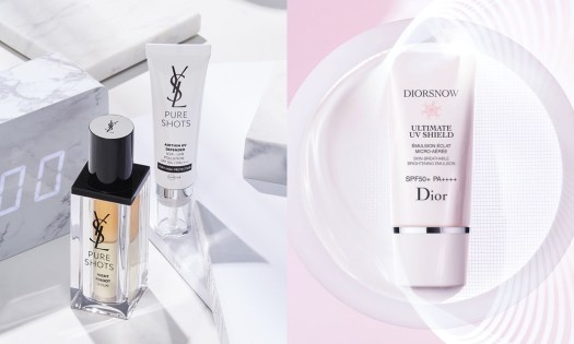 Sunscreen is important, and so is choosing the right one. YSL Beauty's Airthin UV Defender and Dior's Diorsnow Ultimate UV Shield protect your skin against UV rays.