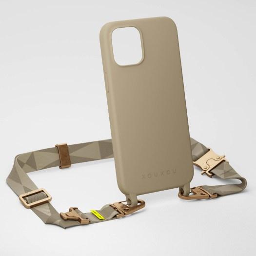 Taupe Silicone Case + Lanyard, $111