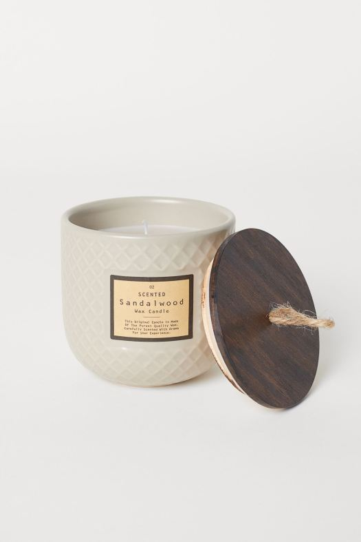 Scented Sandalwood Wax Candle (S$16.95)