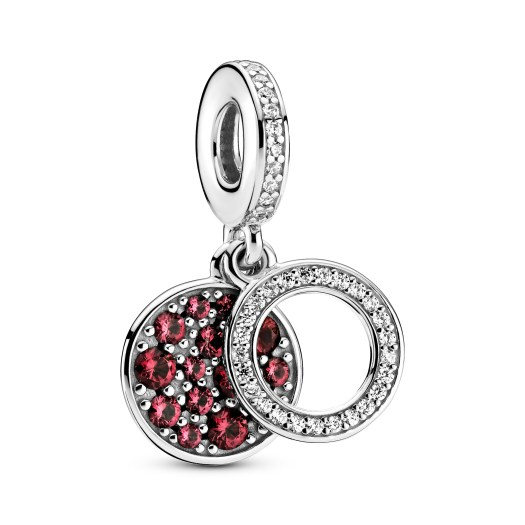 Sparkling Red Disc Double Dangle Charm ($99)