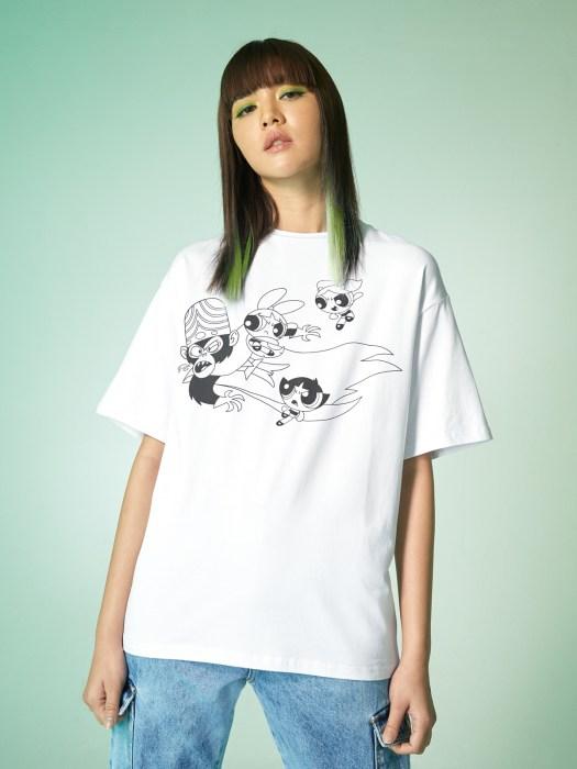 The Powerpuff Girls™ Graphic T-Shirt - White ($24)