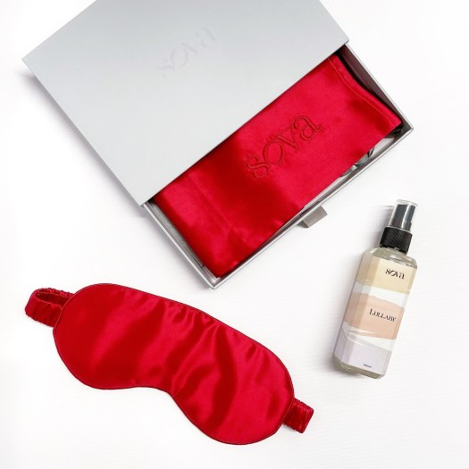 SOVA VALENTINE'S DAY KIT, $179, available at sovasilk.com | On the other end of the spectrum, are SOVA's premium silk accessories in the vibrant Rouge hue. The homegrown brand has put together a kit for the ultimate good night's sleep, comprising of a 22 momme mulberry silk pillowcase, eye mask, and a Lullaby sleep scent, produced in collaboration with local artisanal perfumery, SIX.