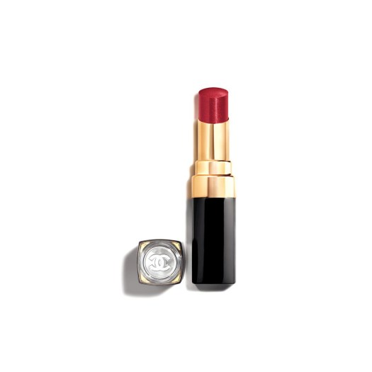 ROUGE COCO FLASH 156 Délicatesse (a brownish pink infused with fine, iridescent pearly particles), $54
