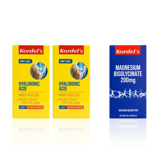 Kordel : Receive a complimentary Kordel's Magnesium Bisglycinate 60s (worth $49) with purchase of Kordel's Hyaluronic 30s Set at $80.