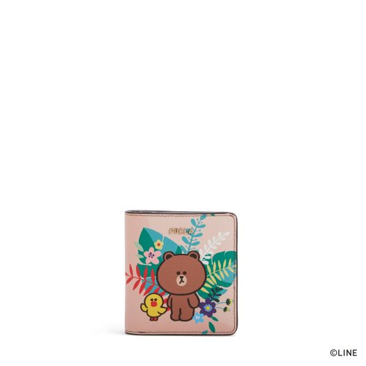 FURLA LINE FRIENDS S COMPACT WALLET, DAY PRINT