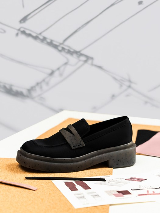 Charli Recycled Nylon Penny Loafers - Black, $65.90