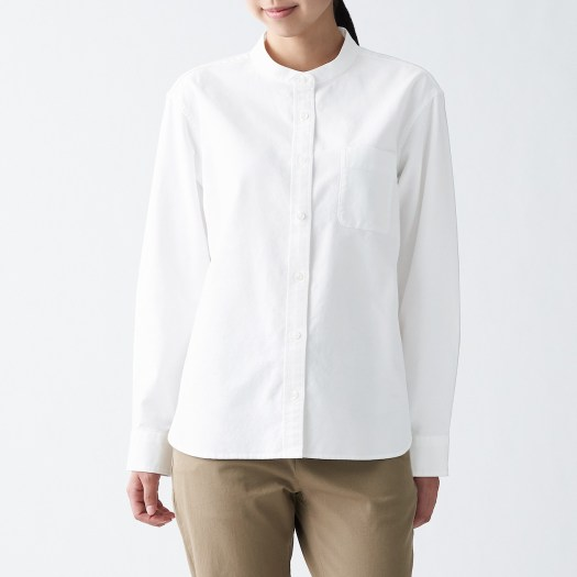Ladies' Oxford/ Broad Stand Collar Shirt. Before, $39 — Now, $29.