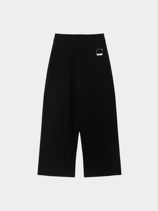 Sustainable Ribbed Wide Leg Pants - Black ($39.90)