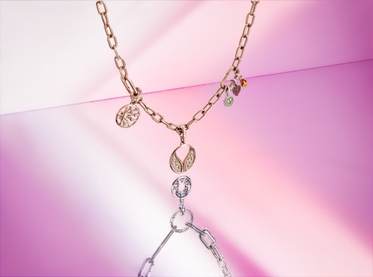 Pandora ME Link Chain Bracelet with Small Link Chains in 14k Rose Gold-Plated ($279).
