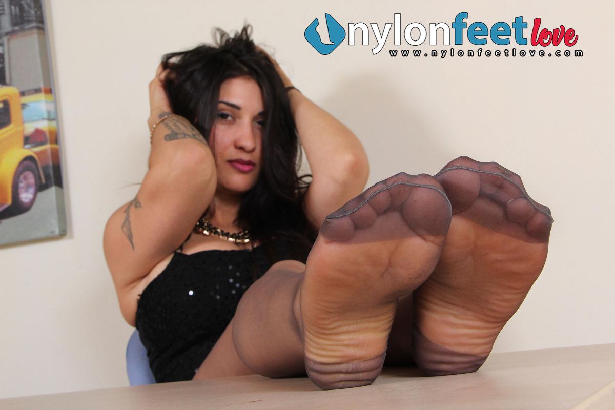 nylon feet-sharon-secretary