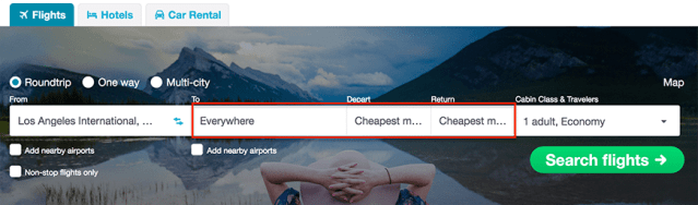 travel hacks how to find cheap flights - Skyscanner - cheapest month 2