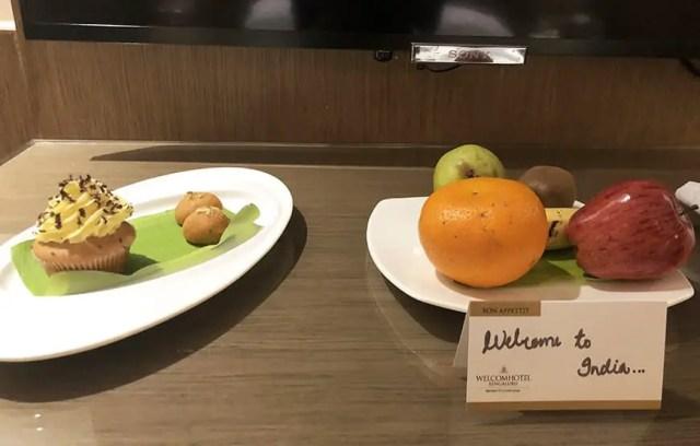 Welcom Hotel ITC Hotel bengaluru - welcome plate