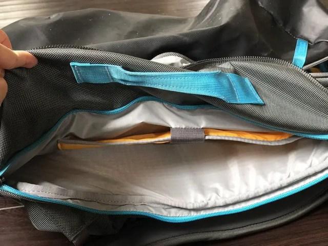 best carry on backpack for international travel for women - laptop sleeve