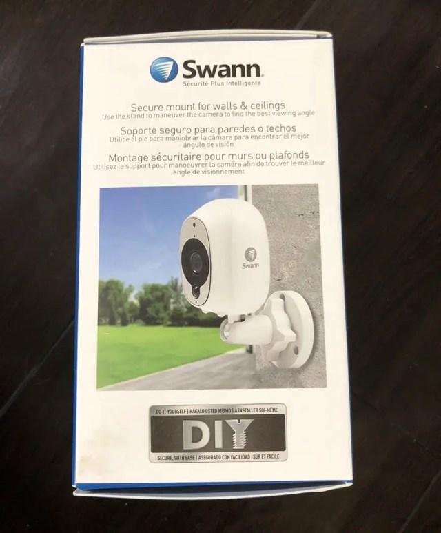 Swann Smart Security Camera Wireless 1080 Box Side