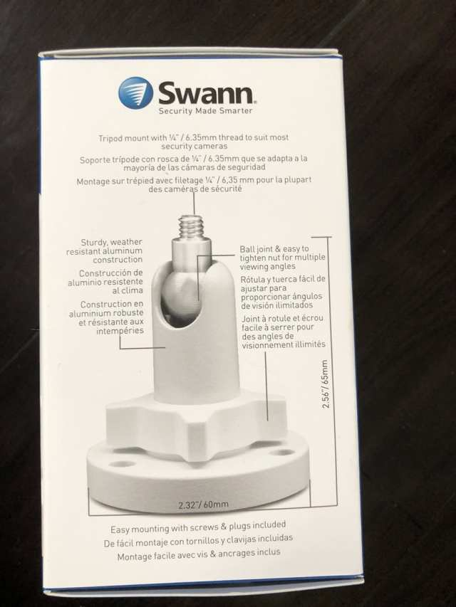 Swann Smart Security Camera Wireless 1080 Mounting Stand Side