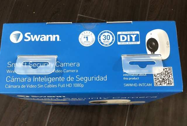 Swann Smart Security Camera Wireless 1080 Packaging Top