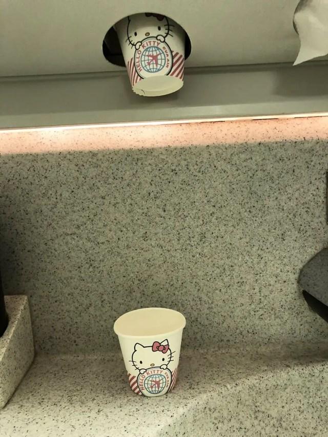 eva air hello kitty flight cups