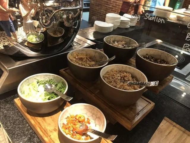 hotel indigo bali seminyak beach - buffet porridge