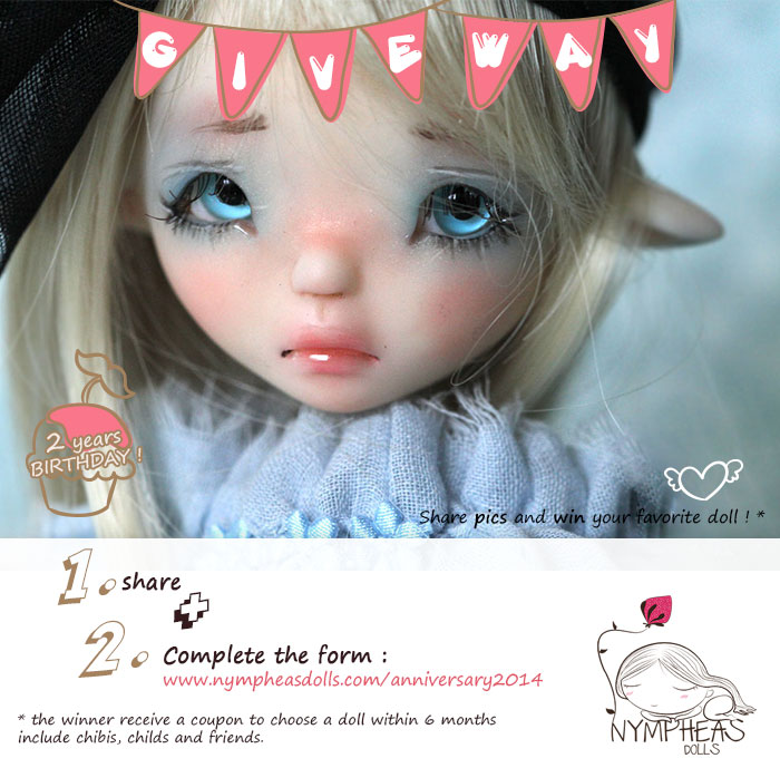 Malicie concour2014 Nympheas Dolls 2014 Anniversary ! non classe     Nympheasdolls