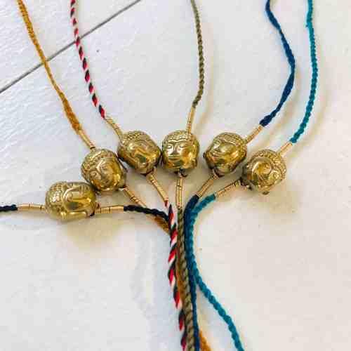 Nynybird Bracelet bouddha hématite doré