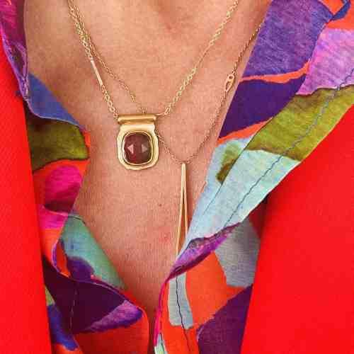 Collier Amulette Nynybird Tourmaline Pastèque