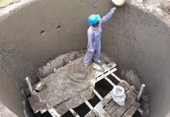 Bau eines neuen Wassertanks bei Nyota
